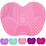 Big Size Silicone Makeup Accessories Brush Cleaner Mat Cosmetic Cleaning Pad Scrubber Board Tool (Pink)