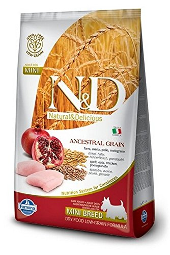 FARMINA - N&D LOW ANCESTRAL GRAIN ADULT MINI POLLO & MELOGRANO 2,5 KG. - 1618