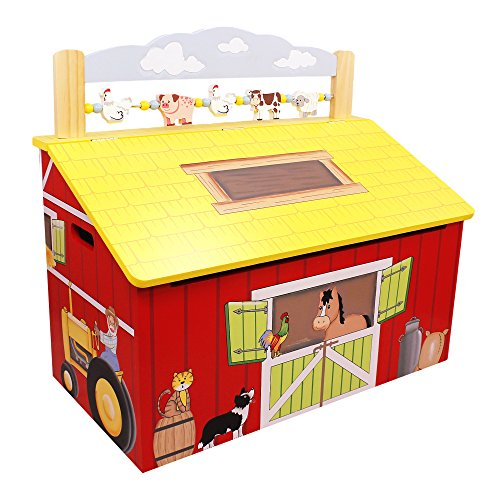 Fantasy Fields Happy Farm Childrens Kids Spielzeugtruhe aus Holz TD-11326A -