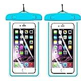 2Pack BlueUniversal Waterproof Phone Case Dry Bag CaseHQ - Best Reviews Guide