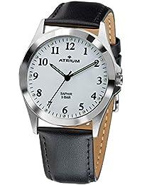 Atrium Mujer Reloj Correa de piel Cristal de zafiro 5Bar A17–10
