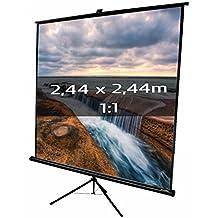 KIMEX 043-2025 Pantalla de proyección trípode 2,44 x 2,44m, formato 1/1