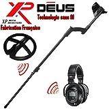 XP Metal Detectors–Detector de metales Deus Light2–tecnología inalámbrica–Auricular inalámbrico WS5–Disco DD 22cm con protege disco–Caña telescópica en S