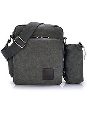 Outreo Canvas Umhängetasche Herren Schultertasche Kleine Herrentaschen Vintage Messenger Bag Taschen für Schule...