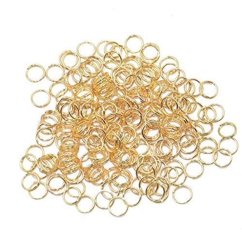 Preisvergleich Produktbild 200pcs Spaltringe Spiralringe Schlüsselringe Flachschlüssel 0.6 x 6 mm Gold