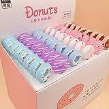 SASHUI Stylo Gel 0.5Mm Kawaii Silica Gel Pens Cute Donut Gel Penscreative Neutral Pens For Girls Writing School Office Supplies Stationery,