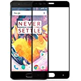 Premium Full Screen Coverage Tempered Glass Screen Guard Protector for OnePlus 3/Oneplus 3T- Black Colour