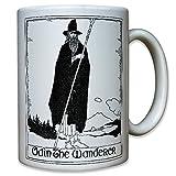 Odin The Wanderer Dios Vikingo Wotan Edda germanen–Taza de café taza # 9532