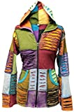 SHOPOHOLIC FASHION Damen zerschnitten Hippie Jacke Out gesteppt Strickjacke Patchwork Jacke - Multi, Large