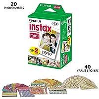 Fujifilm INSTAX Mini Instant Film (White) for Fujifilm Mini 8 & Mini 9 Cameras (20 Sheets)