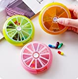 uchic 3pezzi Mini Care 7Slot pillola medicina Vitamina Aufbewahrungsbox Organizer copertura Portable pillola settimanale girante farmaci piccolo box