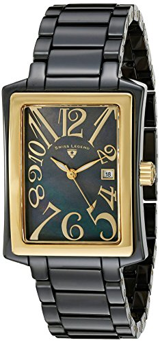 Swiss Legend Women's 10034-BKBGA Bella Black Mother-Of-Pearl Dial Black High Tech Ceramic Watch