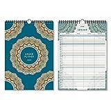 Familienkalender Wandkalender 2020 individuell DIN A4 210x297 mm hoch - Mandala Familienplaner 4 Spalten