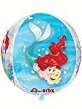 Amscan International–339370115'Ariel Dream Big transparente Orbz globo en forma de'