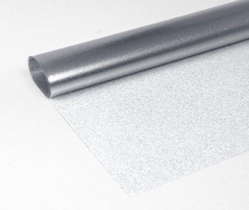 litter Metallic Tischdecke Tischschutz Rund Oval Eckig, FARBE und Größe wählbar, (Oval 130x180 cm Transparent Silber) (Metallic-tischdecke)