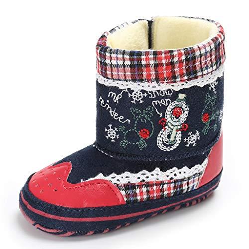 Weihnachtsmann Prewalker Schuhe Weihnachten Schneeschuhe Baby Mädchen Jungen Christmas Schneestiefel Krabbelschuhe Kleinkind Xmas Booties Halten Kinderschuhe Santa Babyschuhe Weiche Lauflernschuhe
