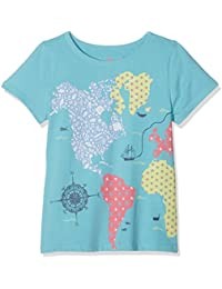Fat Face Map Graphic, T-Shirt Fille