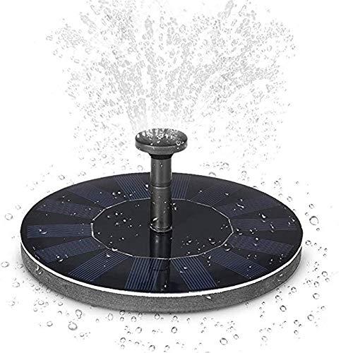 XNNSH Runden Springbrunnen Solar Garten 1.4W Mini LED Wasserdichte Solar Teich Panel Brunnenpumpen Outdoor mit Power Speicherfunktion für Teich Garten Vogelbad Gartenteich