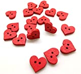 #6: Wooden Fancy Button Assorted 5