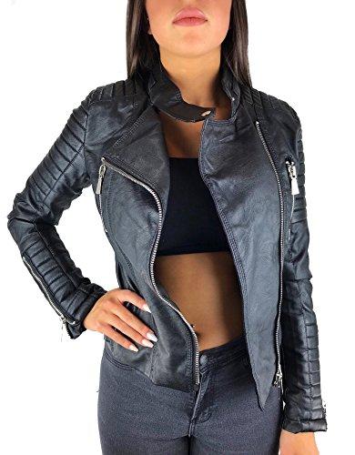 Worldclassca Damen Kunstleder Jacke Lederoptik ÜBERGANGS Damenjacke Biker Rock Style Fashion Jacket...