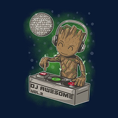 Guardians Of The Galaxy DJ Awesome Baby Groot Men's Vest Navy Blue