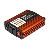 Soofotoo 300 Watt (600w Peak) Power Inverter DC 12V to 230V AC Converter with UK Outlet 5V 2A USB Port for Laptop PC Smartphone Camera Tablet PC