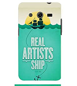 TOUCHNER (TN) Artist Ship Back Case Cover for Samsung Galaxy Core 2 G355H