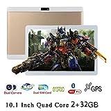 Upxiang Doppel-Sim-Spiel-Tablette PC Android 5.1 Viererkabel-Kern 10.1 Zoll Zoll 2GRAM + 32GB ROM HD Wifi 3G Tablette (Gold)