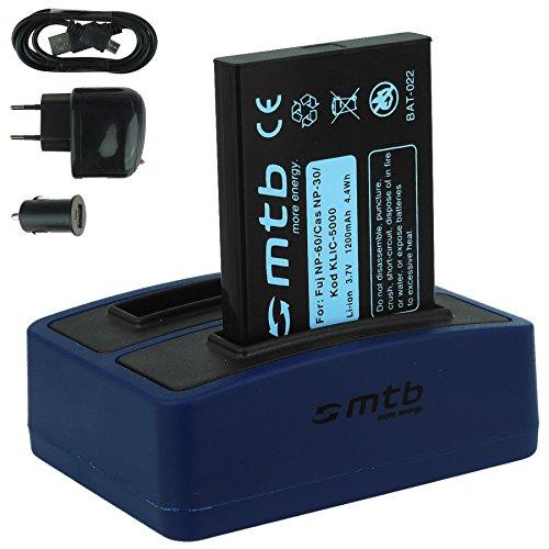 Akku + Dual-Ladegerät (Netz+Kfz+USB) für Drift HD (1080p), HD170 (Stealth), HD720 / Toshiba Camileo H20 ... / Ricoh Caplio RR10 uvm... s. Liste