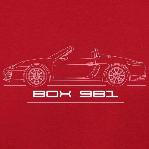 Seitenansicht Porsche Boxster 981 (2012 - 2016) - Unisex Pullover/Sweatshirt - 8 Farben Rot