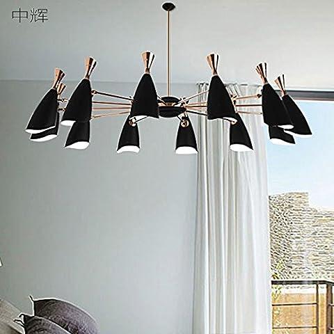 TJDlight generico minimalista postmoderna lampadario lampadario di personalità creative modello soggiorno sala da pranzo Camera da letto illuminazione , artigianato originale 10 nero +