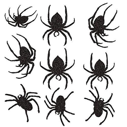 Amscan International 199496,Glitzer-Spider- (Halloween Dekoration Ausschnitte)