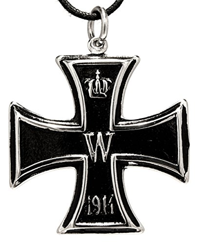 Eisernes Kreuz 1813/1914 Anhänger aus Edelstahl mit Baumwollband