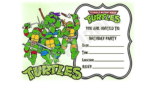Superhero Teenage Mutant Ninja Turtles Birthday Party Invites