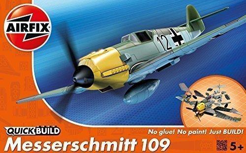Airfix Quick Build Messerschmitt Bf109e Flugzeug Modell Bausatz