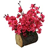 #3: Thefancymart Artificial Blossom Flowers ( 12 inch / 30 CMS) in Wood Buckle Pot-1579