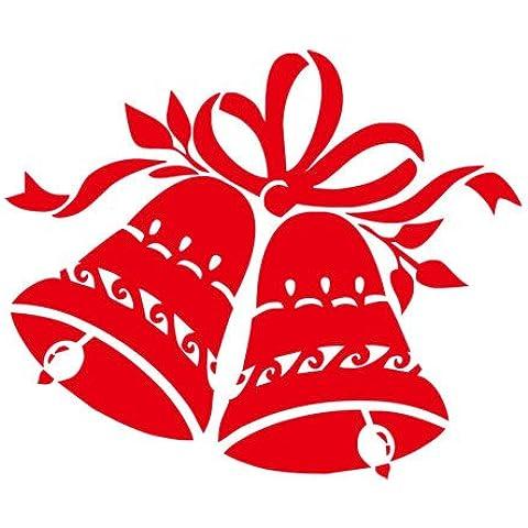 YYH Campanas de Navidad adhesivo de PVC auto pared calcomanías infantiles Pack de 8