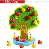 Rubility® Montessori per bambini giocattoli di legno educativi magnetica mamelucco giocattolo del bambino Istruzione Infanzia età prescolare regalo di compleanno per i bambini (frutta)