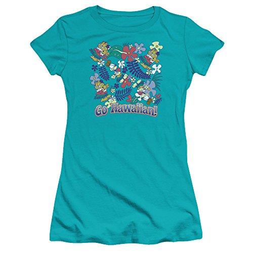 Garfield Go Hawaiian Juniors Premium Bella Shirt
