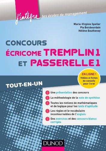 Concours Écricome Tremplin 1 et Passerelle 1 - Tout-en-un