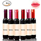 Mlmsy 6 pcs Red Wine Bottle Style Lip Gloss Tint Set Waterproof Long Lasting Stained Glaze Lip Gloss Great Gift 6 Color