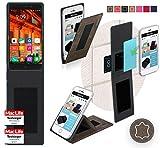 reboon Hülle für Elephone P9000 Lite Tasche Cover Case Bumper | Braun Wildleder | Testsieger