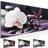 Bild 100 x 40 cm - blume,asien Bilder- Vlies Leinwand - Deko für Wohnzimmer -Wandbild - XXL Teile - leichtes Aufhängen- 801712b