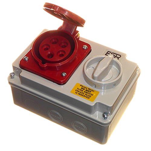 16 Amp 415 V 5-polige Verriegelungsbuchse 3P+N+E 3-Phasen-Schaltung, Rot