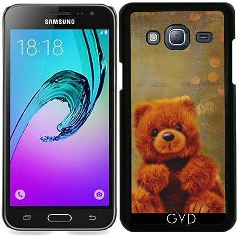Custodia per Samsung Galaxy J3 2015 (SM-J310) - Orsacchiotto Di Peluche by Andrea (Mixed Brown Peluche)