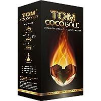 Tom CocoGold Shisha Kohle, Kohlenstoff, ca. 25 x 25 mm, Schwarz, 216 Würfel