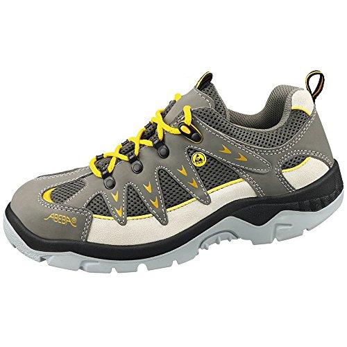 ABEBA anatom Berufsschuh Sicherheitsschuh 32290 32291 32292 S1P ESD, modischer Schuh für Sie und Ihn Grau/Gelb