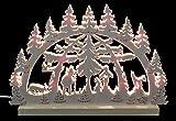 Unbekannt 3D-Doppelschwibbogen - Waldmotiv - 42 x 30 x 4,5 cm - Original Erzgebirge Schwibbögen - Michael Müller