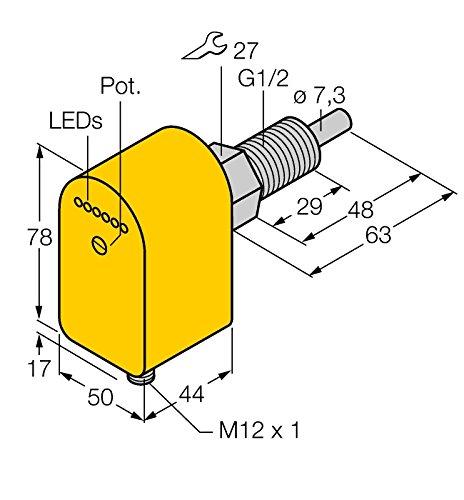 6870242-h1141FCS GL1/2a4p de AP8x, strömung Surveillance eintauch Capteur