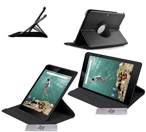 Drehbare Luxus Schutzhülle mit Schlaf/Wach Funktion Nexus 9 + EINGABESTIFT & FOLIE GESCHENKT DAZU!!!